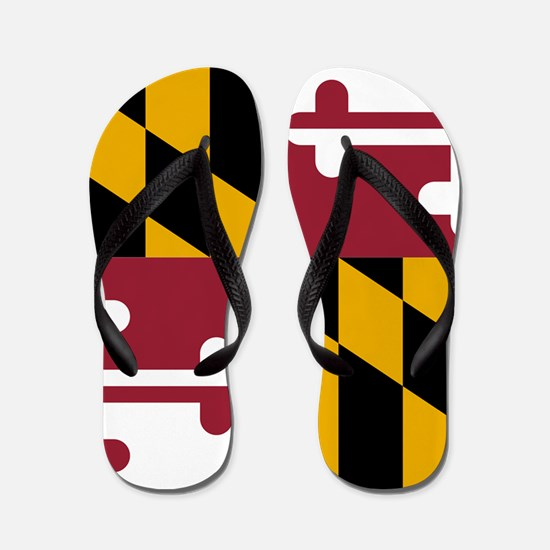Maryland State Flag Flip Flops