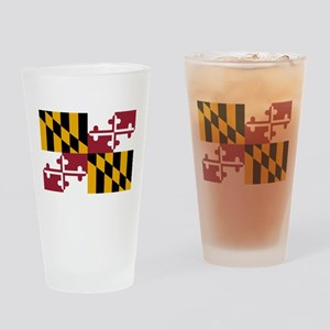 Maryland State Flag Drinking Glass