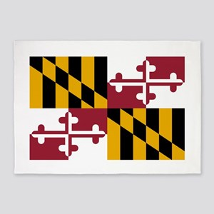 Maryland State Flag 5'x7'Area Rug