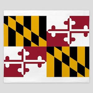 Maryland State Flag King Duvet