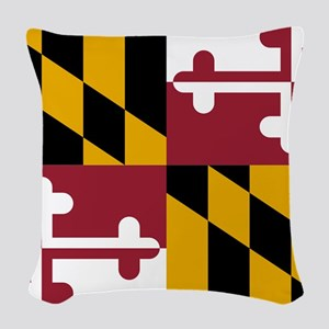 Maryland State Flag Woven Throw Pillow
