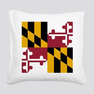 Maryland State Flag Square Canvas Pillow