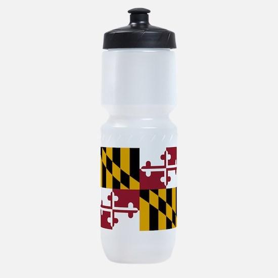 Maryland State Flag Sports Bottle