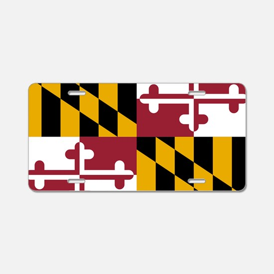 Maryland State Flag Aluminum License Plate