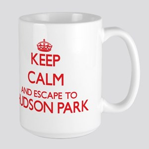 Keep calm and escape to Hudson Park New York Mugs