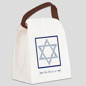 bar mitzvah flourish Canvas Lunch Bag
