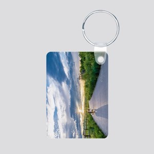 English Shepherd Aluminum Photo Keychain