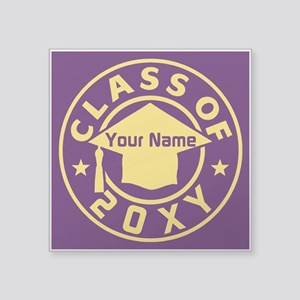 "Class of 20XX Graduation Square Sticker 3"" x 3"""