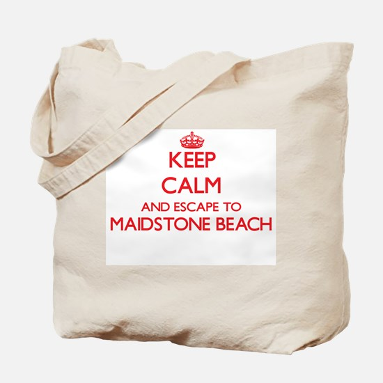 Keep calm and escape to Maidstone Beach N Tote Bag