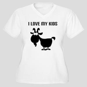Love Goat Kids Women's Plus Size V-Neck T-Shirt