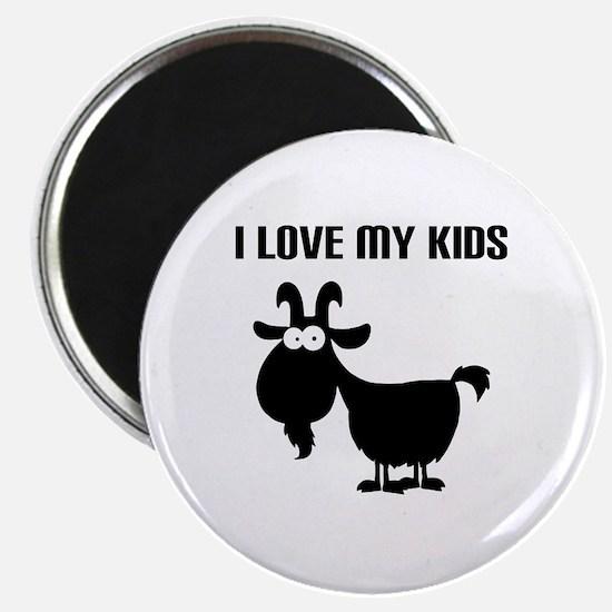 Love Goat Kids Magnet