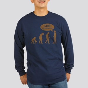 Evolution is following me Long Sleeve Dark T-Shirt