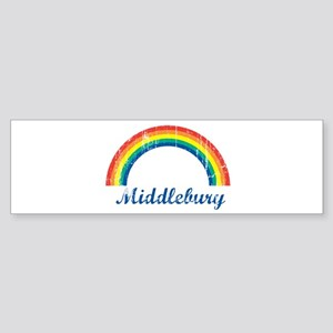 Middlebury (vintage rainbow) Bumper Sticker