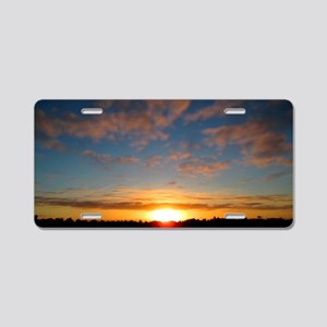 Over The Horizon Aluminum License Plate