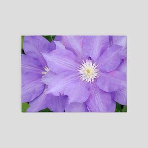 Purple Clematis 5'x7'Area Rug