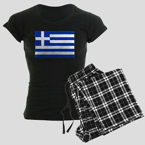 Greece Flag Women's Dark Pajamas