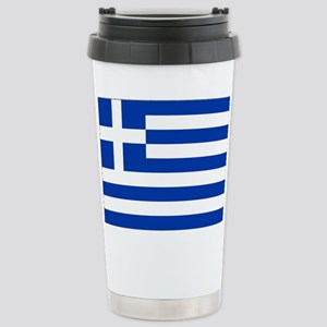 Greece Flag Stainless Steel Travel Mug
