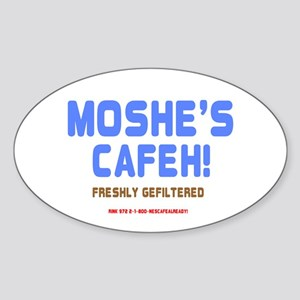 MOSHES CAFEH! - FRESHLY GEFILTERED Sticker
