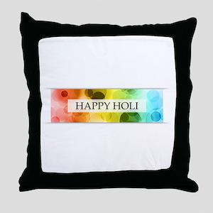 happy holi (bokeh) Throw Pillow
