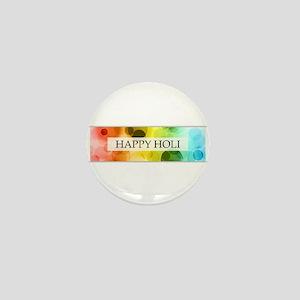 happy holi (bokeh) Mini Button