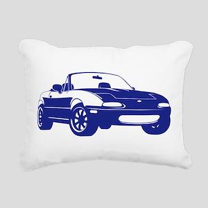 NA Blue Rectangular Canvas Pillow