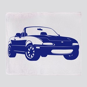 NA Blue Throw Blanket