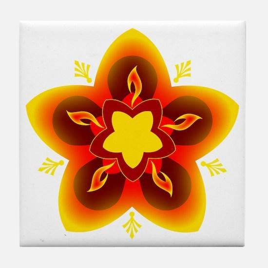 diwali rangoli Tile Coaster