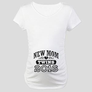 New Mom Twins 2016 Maternity T-Shirt