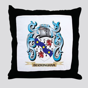Buckingham Coat of Arms - Family Cres Throw Pillow