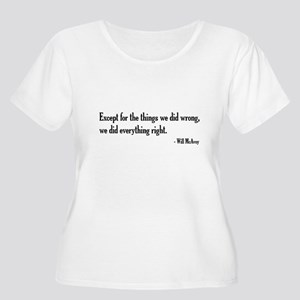 Will McAvoy Newsroom Quote Plus Size T-Shirt