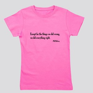 Will McAvoy Newsroom Quote Girl's Tee