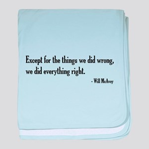 Will McAvoy Newsroom Quote baby blanket