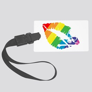 poison rainbow kiss Large Luggage Tag