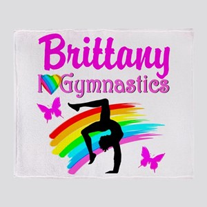GORGEOUS GYMNAST Throw Blanket