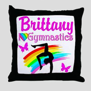 GORGEOUS GYMNAST Throw Pillow