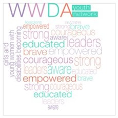 WWDA Youth Logo + Love Heart Poster