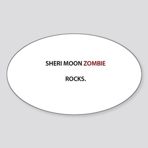 Sheri Moon Zombie Rocks. Oval Sticker