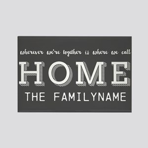 Wherever Were Together is Home Pe Rectangle Magnet