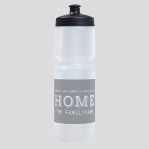 Wherever Were Together is Home Perso Sports Bottle