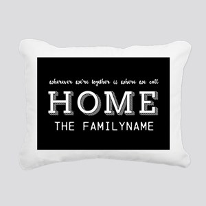 Home Is... Personalized Rectangular Canvas Pillow
