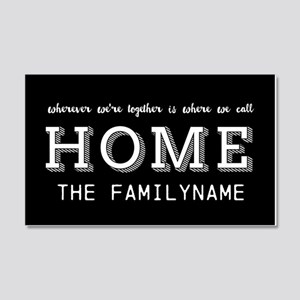 Home Is... Personalized 20x12 Wall Decal
