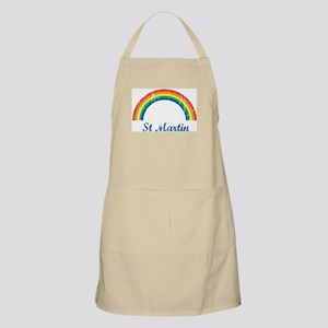 St Martin (vintage rainbow) BBQ Apron
