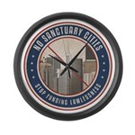 No Sanctuary Cities Large Wall Clock