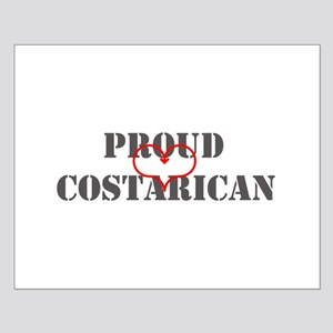 Proud Costa Rica Small Poster