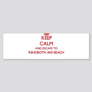 Keep calm and escape to Rehoboth Av Bumper Sticker