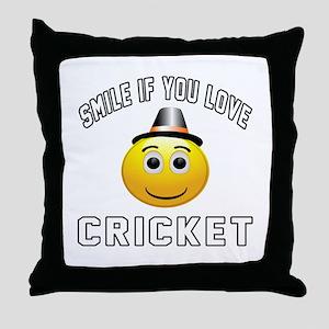 Cricket Cool Designs Throw Pillow