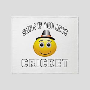 Cricket Cool Designs Throw Blanket