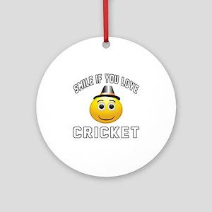 Cricket Cool Designs Ornament (Round)