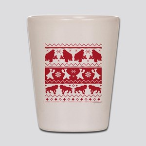 Ice Age Red Shot Glass