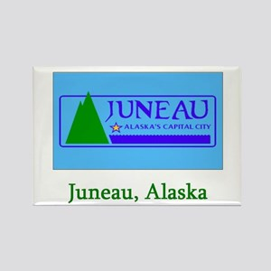 Juneau AK Flag Rectangle Magnet